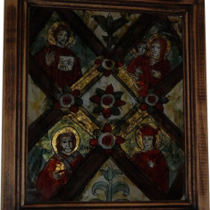 Masa Raiului - icoana papala - Icoana pe sticla