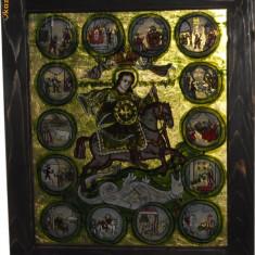 Sf. Mare Mucenic Gheorghe - icoana marturisire - Icoana pe sticla