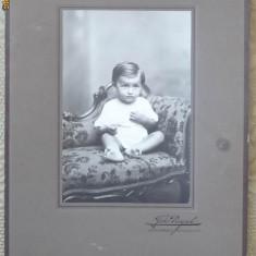 Foto pe carton interbelica , dimensiuni mari , Bucuresti