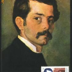 PICTOR IOAN ANDREESCU, ILUSTRATA MNH CU TIMBRU PT. MAXIMA (C.P.27)