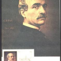 VASILE ALECSANDRI, ILUSTRATA NECIRCULATA CU TIMBRU PT. MAXIMA (C.P.27)