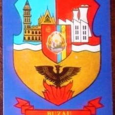 ROMANIA - STEMA MUNICIPIULUI BUZAU. ILUSTRATA MNH (C.P.33)