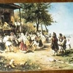 ROMANIA - PICTURA. TH. AMAN - HORA DE LA ANINOASA. ILUSTRATA MNH (V16)