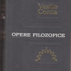 Vasile Conta / OPERE FILOZOFICE - Carte Filosofie