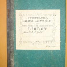 """Statut Bancei,, ISVORUL JARAVATULUI"""", Tutova - Carte Editie princeps"""