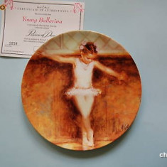 Farfurie  decorativa  Wedgwood  Passion  of  Dance   -  Young   Ballerina