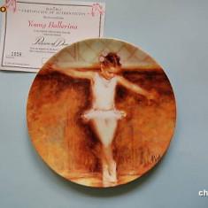 Farfurie decorativa Wedgwood Passion of Dance - Young Ballerina - Portelan, Farfurii