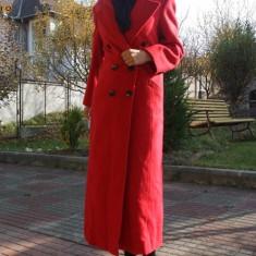Palton Rosu Retro Vintage - Haine vintage