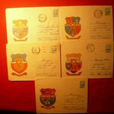 Set 5 Intreguri Postale -STEME DE ORASE