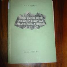 1785Prokotiev Metode pentru calcularea rezervelor de minereuri - Carte poezie