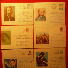 Set 11 Intreguri Postale -PERSONALITATI ROMANESTI, 1967-1984