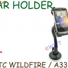 HTC wildfire g8 suport masina original Car Holder + incarcator auto - Suport auto