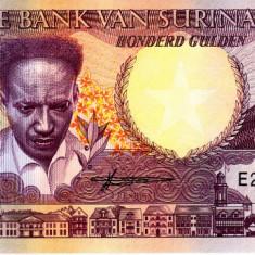 Bancnota Suriname 100 Gulden 1986 - P133a UNC