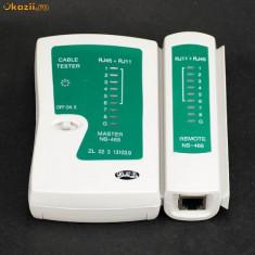 Tester pentru verificarea cablurilor UTP (RJ 45) si RJ 11
