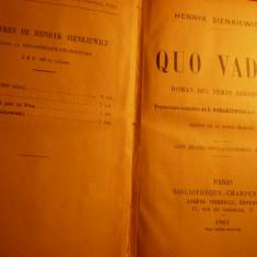 H. SIENKIEWICZ -QUO VADIS -.Paris Bibl.Charpentier 1903 - Roman
