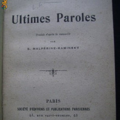 L Tolstoi Ultimes Paroles Societe d'Editions et Publications Parisiennes legata