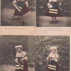 Colectie 5 carti postale : Micuta italianca (1905)