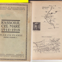 Atlas cu planse-Razboiul cel Mare- General Gavanescul-tema militara, WK1