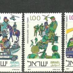 Israel 1977 - POLITIA si JANDARMERIA NATIONALA, serie nestampilata C50 - Timbre straine, Militar