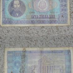 ROMANIA - BANCNOTA 100 LEI 1966 - Bancnota romaneasca