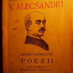 VASILE ALECSANDRI -POEZII -OPERE COMPLETE - 1941 - Carte poezie