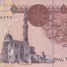 Bancnota Egipt 1 Pound 2001 - P50f UNC - bancnota africa