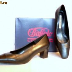 Pantofi comozi, Buffalo, piele, (11800-499 BLACK) - Pantof dama Buffalo, Culoare: Negru, Marime: 36, 41, Piele naturala