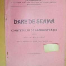 "Sectia B Soc. slavona inmormantare,, Svornost"" Buc. 1912 - Carte Editie princeps"