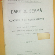 "Sectia C Soc. slavona inmormantare,, Svornost"" Buc. 1912 - Carte Editie princeps"