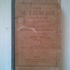 CHOIX DE LECTURES EN PROSE ET EN VERS {1897}