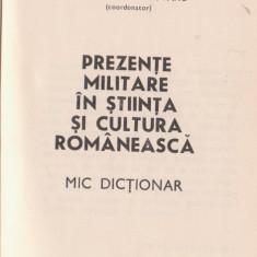 Dictionar de militari in stiinta si cultura romaneasca