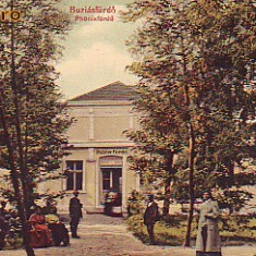 Romania, Baia Buzias, carte postala necirculata aprox.1915: Baia Phoenix, animat - Carte Postala Banat 1904-1918, Fotografie
