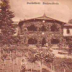 Ok-0627- Romania, Baia Buzias, carte postala circulata 1913: Hotel Bazar
