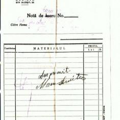 Doc. 49 P. Andreescu Fii -Sectia Fierarie -Spitalul,, Preda1929 - Hartie cu Antet