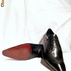 Pantofi barbati, FERREDIMANI, piele, negri, italieni (DENIS) - Pantof barbat, Marime: 43, Culoare: Negru, Piele naturala
