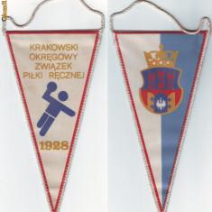 Fanion ( 106 ) - HANDBAL - KRAKOWSKI - Polonia ( fanion mic ) - Fanion handbal