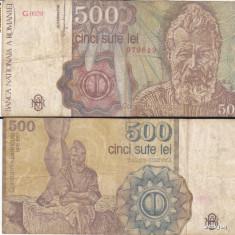 500 Lei Romania 1991- uzata - Bancnota romaneasca