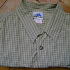 Camasa barbati Adidas, cadrilata, olive, logo maneca, masura L, L, Maneca lunga