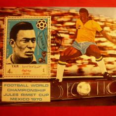 COLITA - FOOTBAL- PELE 1970 YEMEN stampilat - Timbre straine