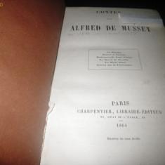 Contes - Alfred de Musset, Paris 1864 - Carte veche