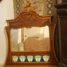 Oglinda veche sculptata manual, antica, rococo
