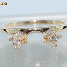 Deosebit inel/verigheta aur galben14K diamante naturale 0, 36CT - Inel diamant