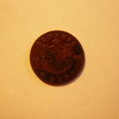 2 Bani 1880, Carol I, bronz, cal.medie-buna, d=2cm. - Moneda Romania