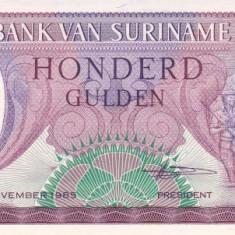Bancnota Suriname 100 Gulden 1985 - P128b UNC