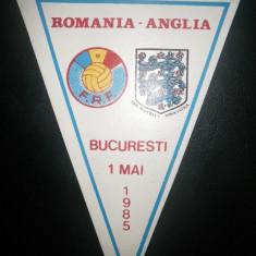 Fanion fotbal Romania - Anglia 1985