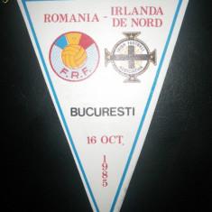 Fanion fotbal Romania - Irlanda de Nord 1985