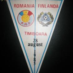 Fanion fotbal Romania - Finlanda 1985