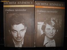 Nichita Stanescu, Ordinea cuvintelor, cu autograf ingrijitor editie foto