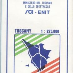 HARTA COLOR TOSCANA ITALIA 83/83CM - Harta Italiei