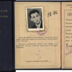 Legitimatie de fotbalist, Lis Valentin, Progresul Pitesti, 1960 - Autograf